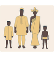 African Family vector image