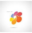 Creative abstract logo design vector image