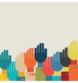 many hands vector image