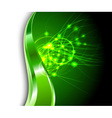 energy flares vector image
