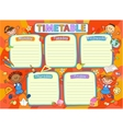 School timetable schedule colorful vector image