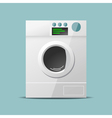 Washing machine flat design vector image