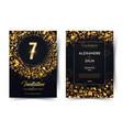 7th years birthday black paper luxury