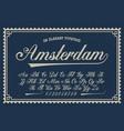 a luxury script font vector image vector image