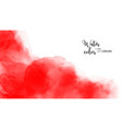 abstract hand painted red watercolor vector image