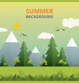 abstract of summer story in nature background vector image