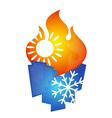 air conditioning symbol design vector image