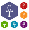 ancient egyptian cross ankh icons