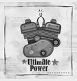 automobile bike engine spark plug on vintage paper vector image