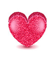 big pink heart isolated on white vector image vector image
