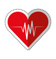 cardiology pulse isolated icon vector image vector image