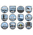 civil aviation pilot school and airport schedule vector image vector image
