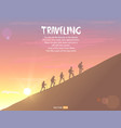 climbing background vector image vector image