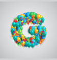 colorful font made by ballons vector image vector image