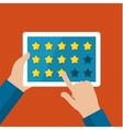 Concept of rating vector image