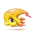 Cute cartoon yellow girl fish character vector image