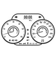 dashboard instrument control panel or fascia in vector image vector image