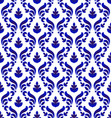 decorative floral damask pattern vector image vector image