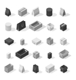 Different box icons vector image vector image