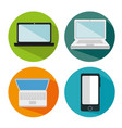 electronics devices set icons vector image