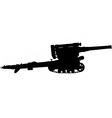 field gun silhouette vector image vector image