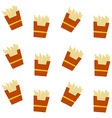 french fries pattern vector image