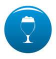 glass of beer icon blue vector image