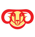golden horned mountain ram vector image vector image
