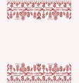greeting card frame with floral ornaments in the vector image