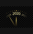 happy new year 2020 gold clock arrows isolated vector image vector image