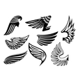 Heraldic angel black and white wings vector image