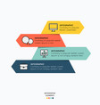 infographic with icons for business design vector image
