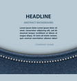 jeans arch design vector image vector image