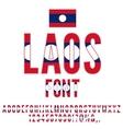 Laos Flag Font vector image vector image