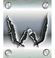letter cut out in metal vector image vector image