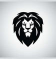 lion head logo design template icon vector image vector image