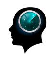 man head silhouette for design on white vector image
