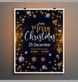 merry christmas lovely flyer poster design vector image