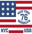 New york Brooklyn typography t-shirt vector image vector image
