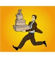 Pop art delivery concept Man vector image vector image