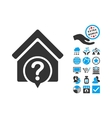 Realty State Flat Icon With Bonus vector image