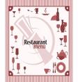 restaurant menu background vector image