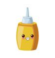 restaurant sauce bottle cute kawaii cartoon vector image vector image
