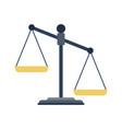 scales of justice icon vector image vector image