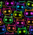 scary cat seamless bright vector image