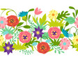 seamless pattern with spring flowers vector image vector image