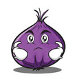 serious red onion character cartoon vector image vector image