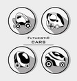 set futuristic car with modern elements vector image vector image