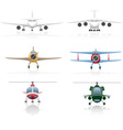 set icons airplane 01 vector image