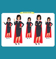 set super businesswoman character design vector image